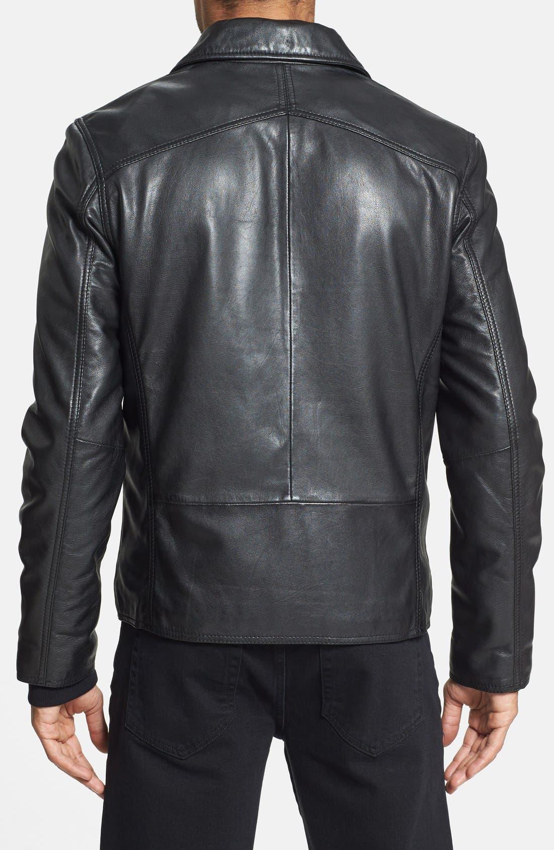 Alternate Image 2  - Marc New York 'Sherman' Trim Fit Leather Jacket
