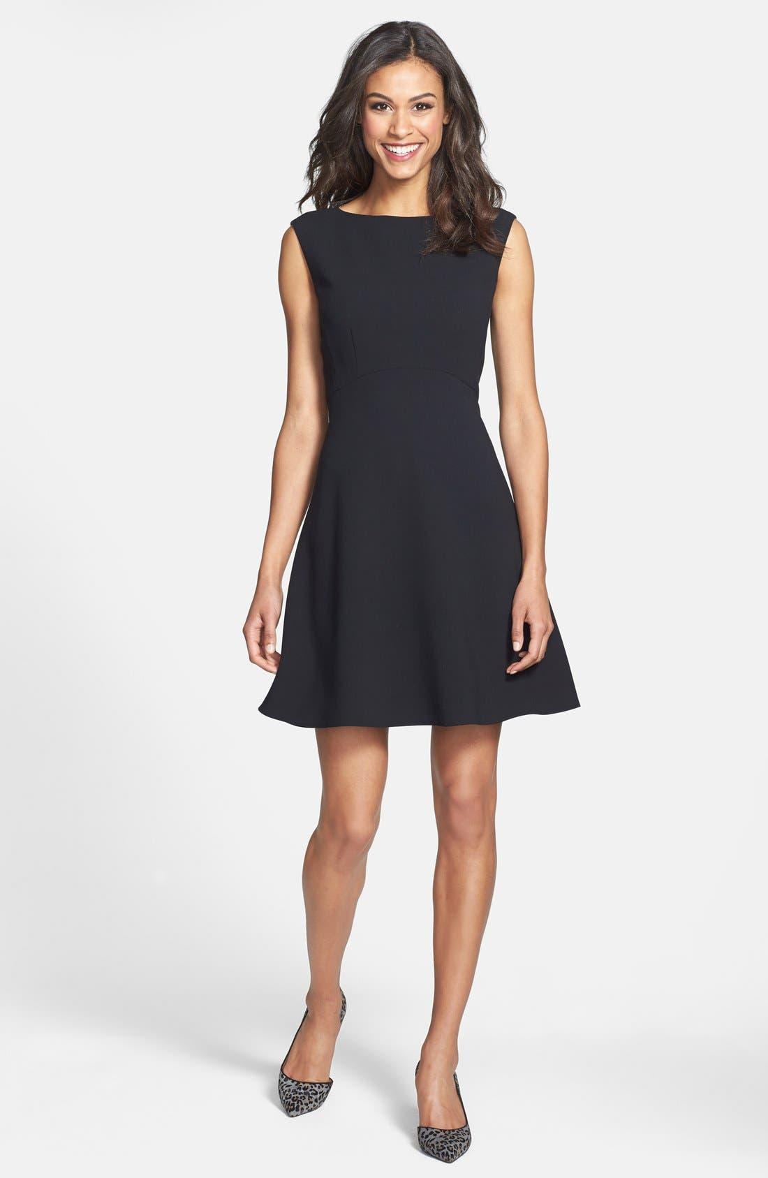 Main Image - Tahari Empire Waist Fit & Flare Dress (Petite)