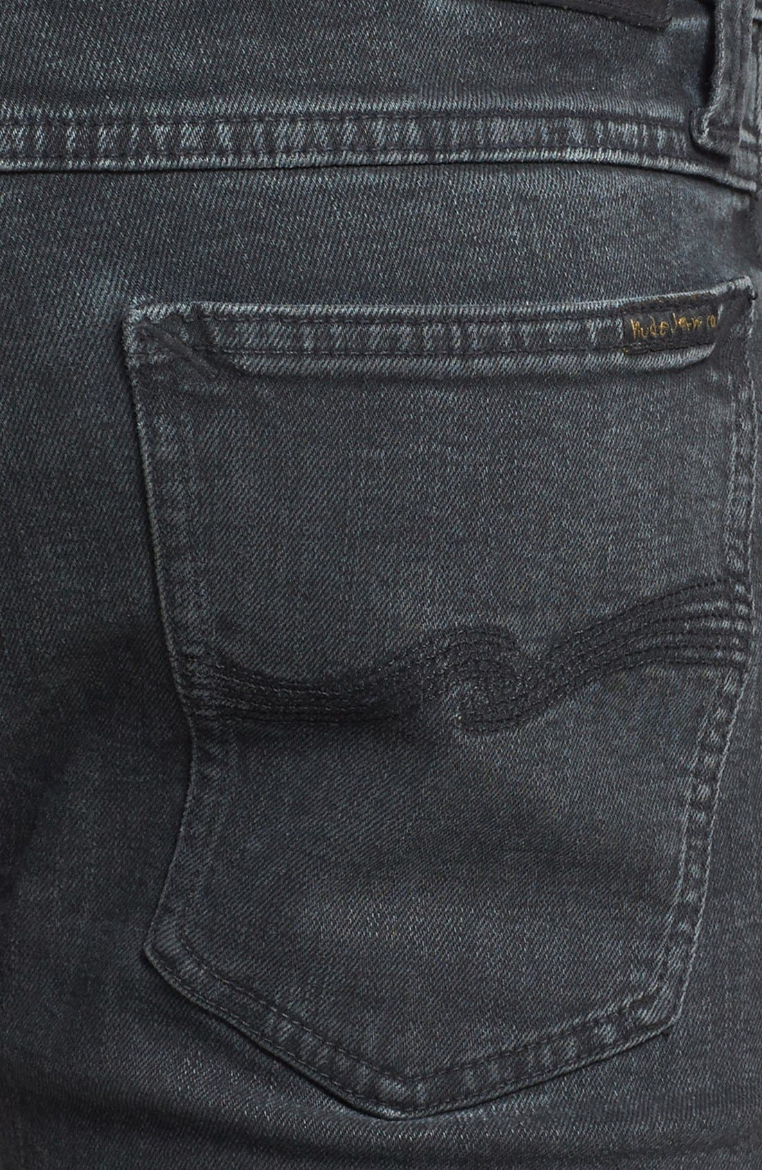 Alternate Image 4  - Nudie Jeans 'Tube Tom' Skinny Fit Jeans (Organic Painted Black)