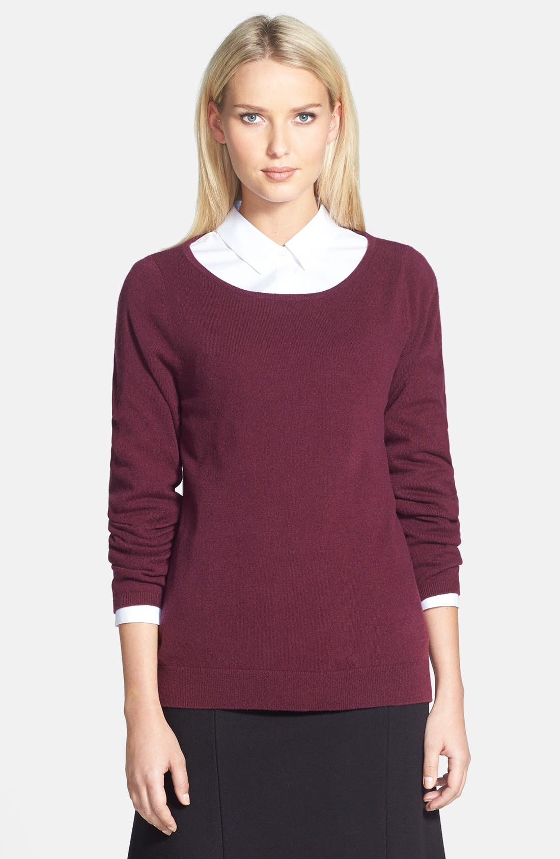 Alternate Image 1 Selected - Nordstrom Collection Ballet Neck Cashmere Sweater