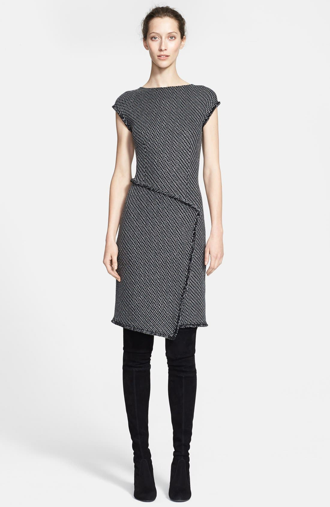 Main Image - St. John Collection Sparkle Macro Twill Knit Dress (Online Only)