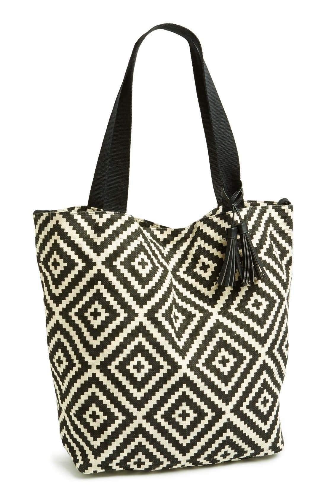 Alternate Image 1 Selected - Lulu 'Large' Canvas Tote (Juniors)