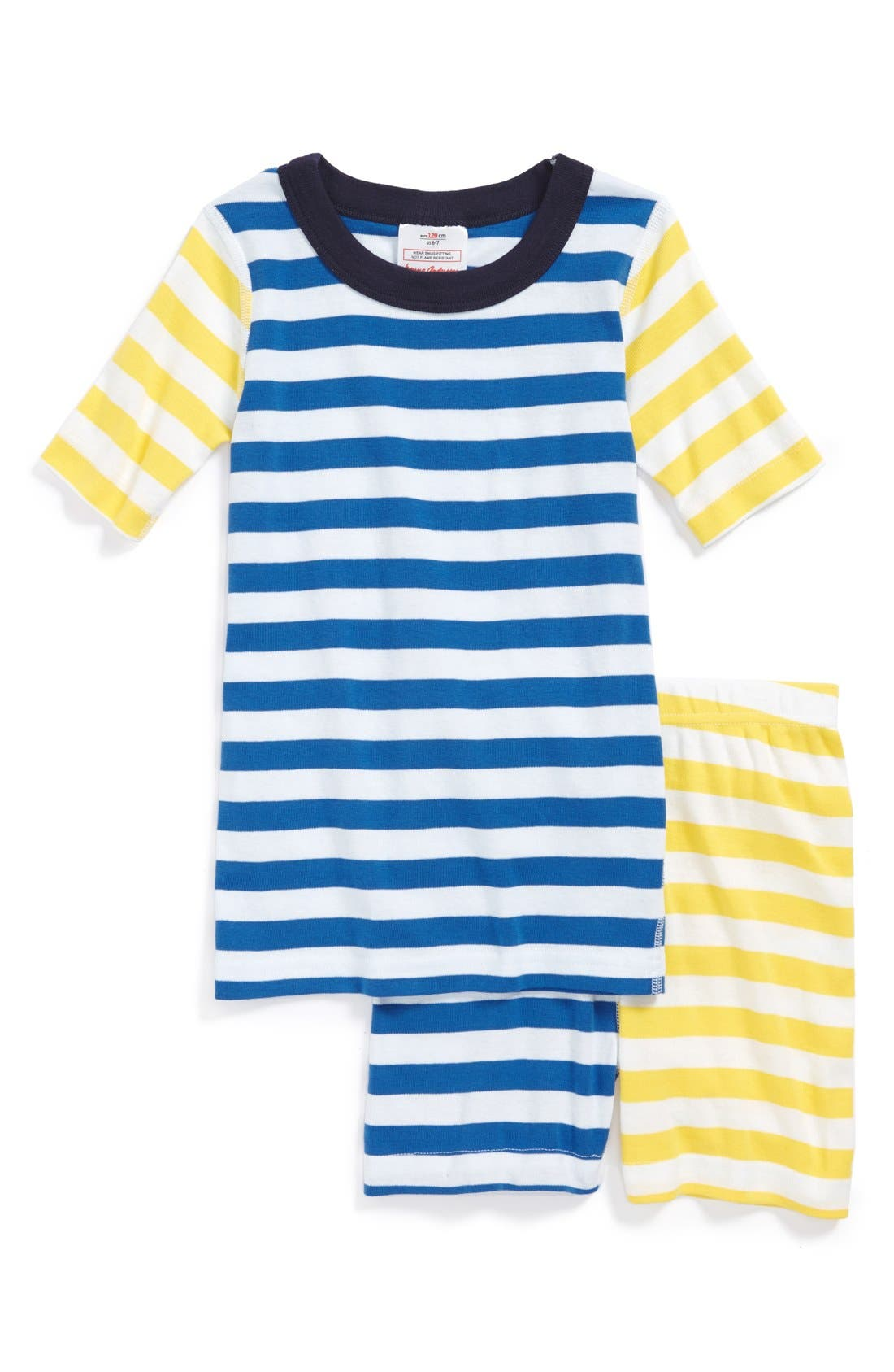 Main Image - Hanna Andersson 'Mix it Up' Two Piece Fitted Pajamas (Little Boys)