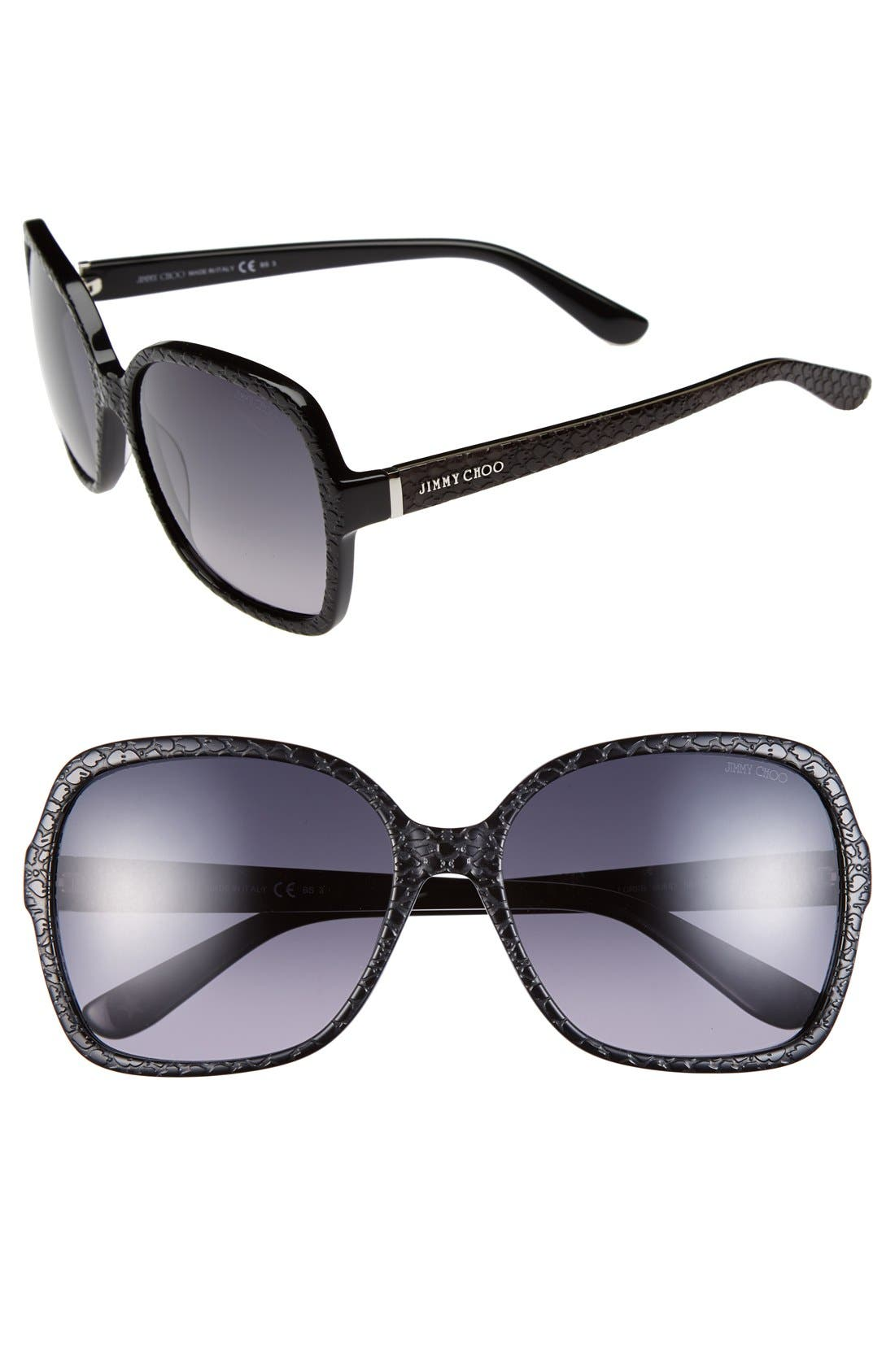 Alternate Image 1 Selected - Jimmy Choo 58mm Butterfly Sunglasses
