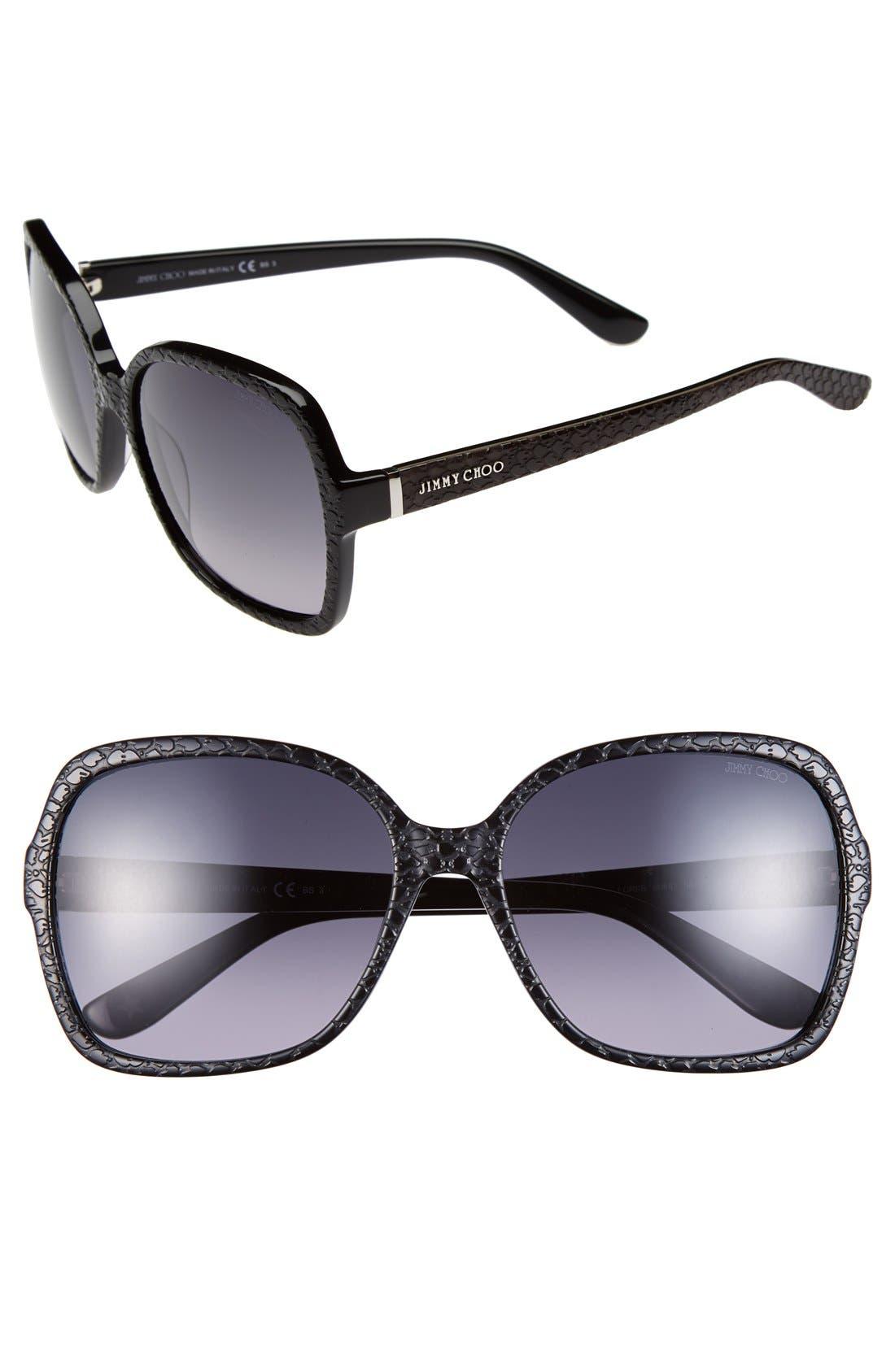 Main Image - Jimmy Choo 58mm Butterfly Sunglasses