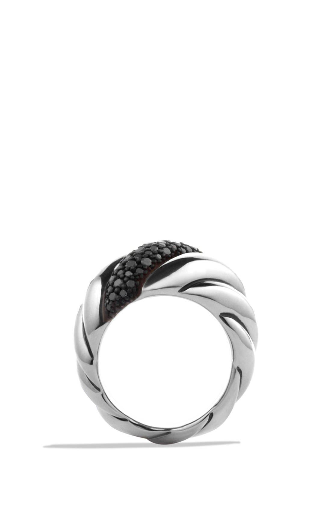 Alternate Image 2  - David Yurman 'Hampton Cable' Ring with Gray Diamonds and Blue Sapphires