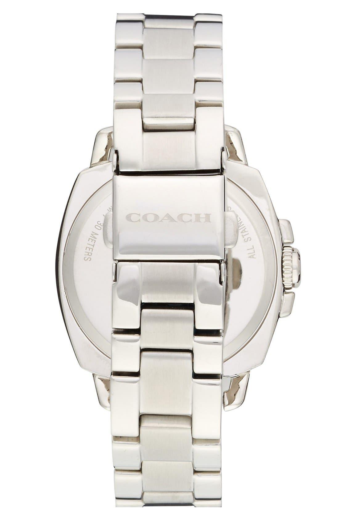 Alternate Image 2  - COACH 'Boyfriend' Pavé Dial Bracelet Watch, 34mm