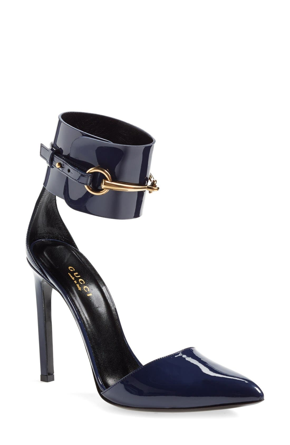 Alternate Image 1 Selected - Gucci 'Ursula' Ankle Cuff Pointy Toe Pump