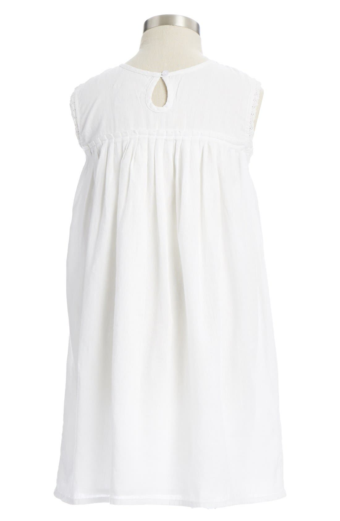 Alternate Image 2  - Peek 'Jamie' Embroidered Cotton Dress (Toddler Girls, Little Girls & Big Girls)