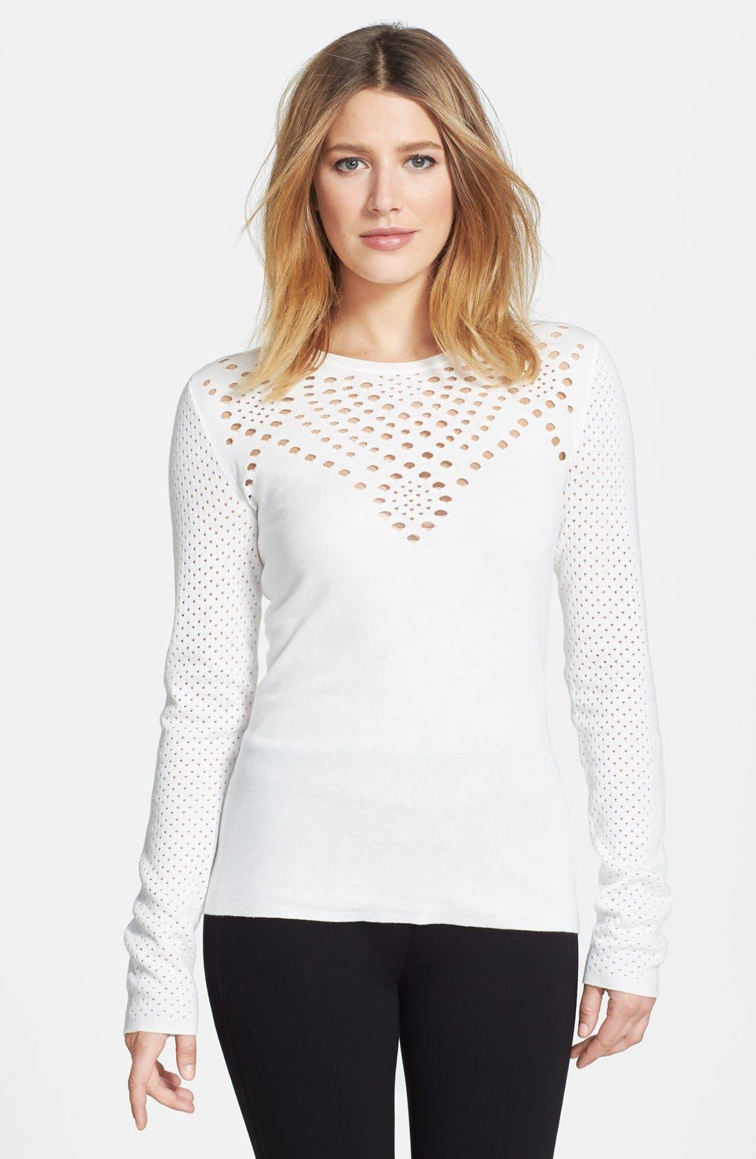 Alternate Image 1 Selected - Rachel Roy Cotton Knit Top