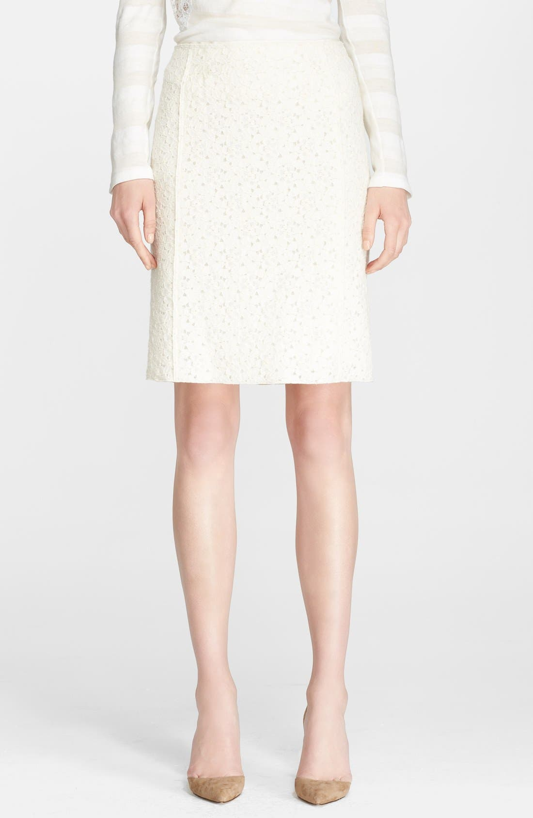Alternate Image 1 Selected - Nina Ricci Lace Skirt