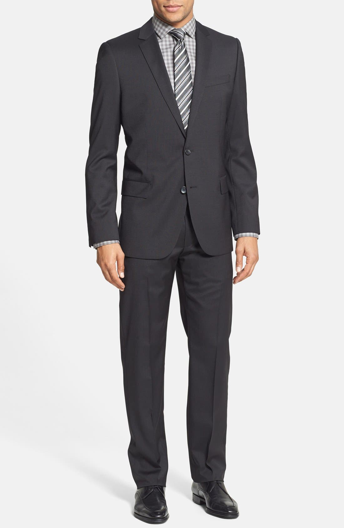 Alternate Image 1 Selected - ANN AMARO/HEISE TRIM FIT SUIT
