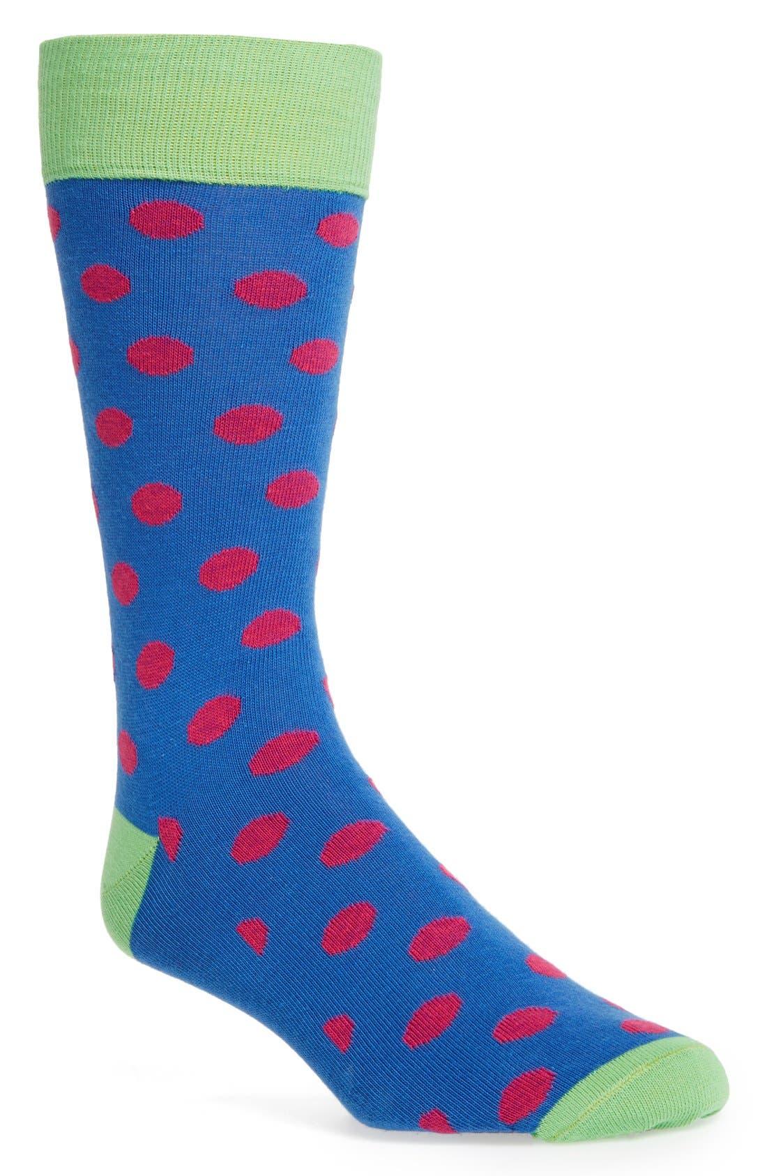 Alternate Image 1 Selected - Lorenzo Uomo Polka Dot Socks (3 for $30)