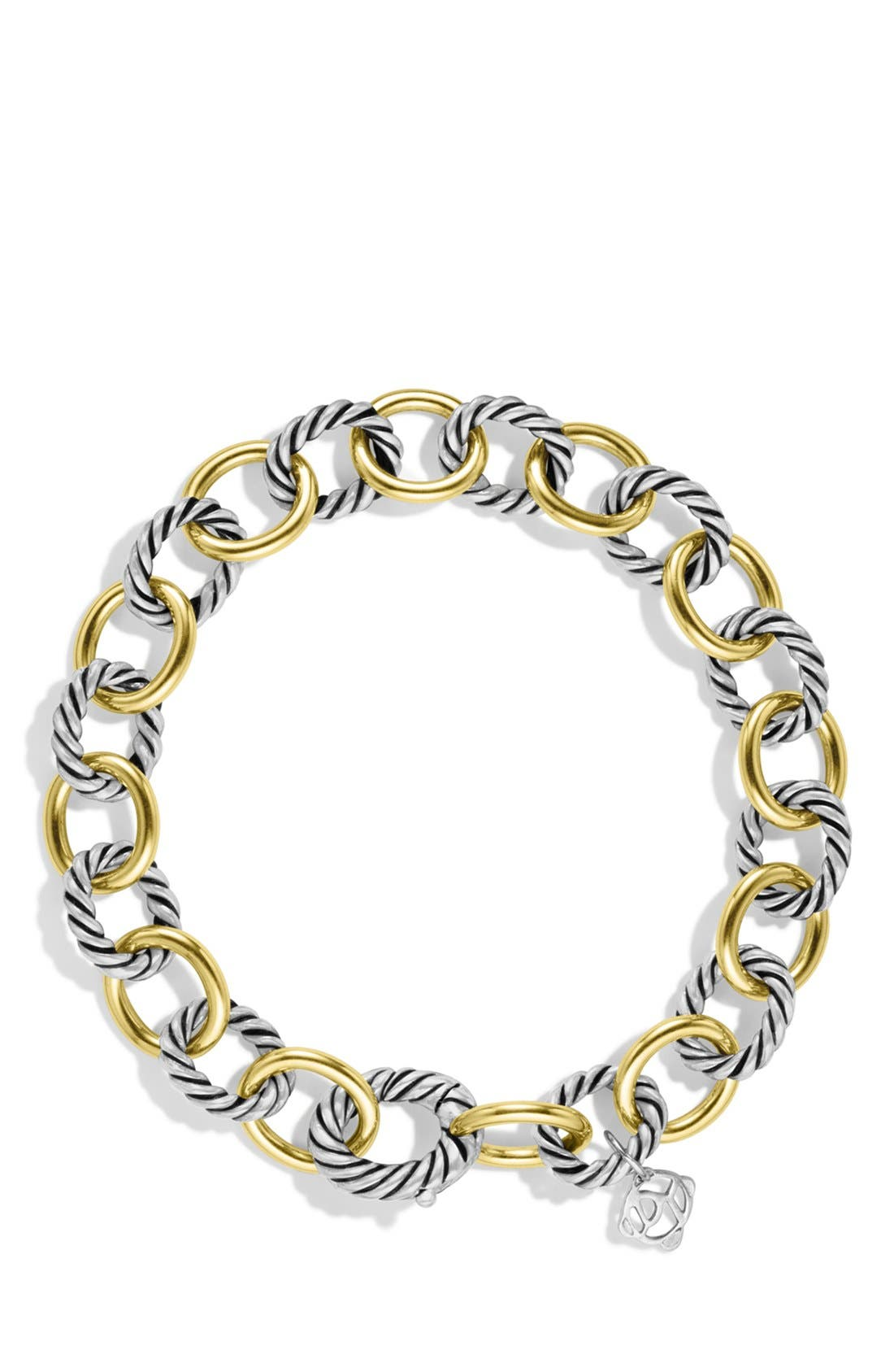 'Oval' Link Bracelet with Gold,                             Alternate thumbnail 2, color,                             Two Tone