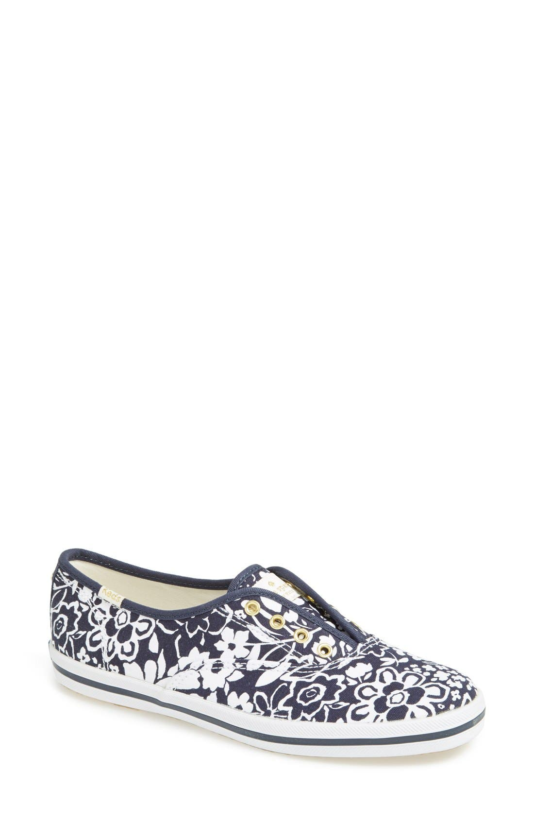 Alternate Image 1 Selected - Keds® for kate spade new york 'champ' print canvas sneaker