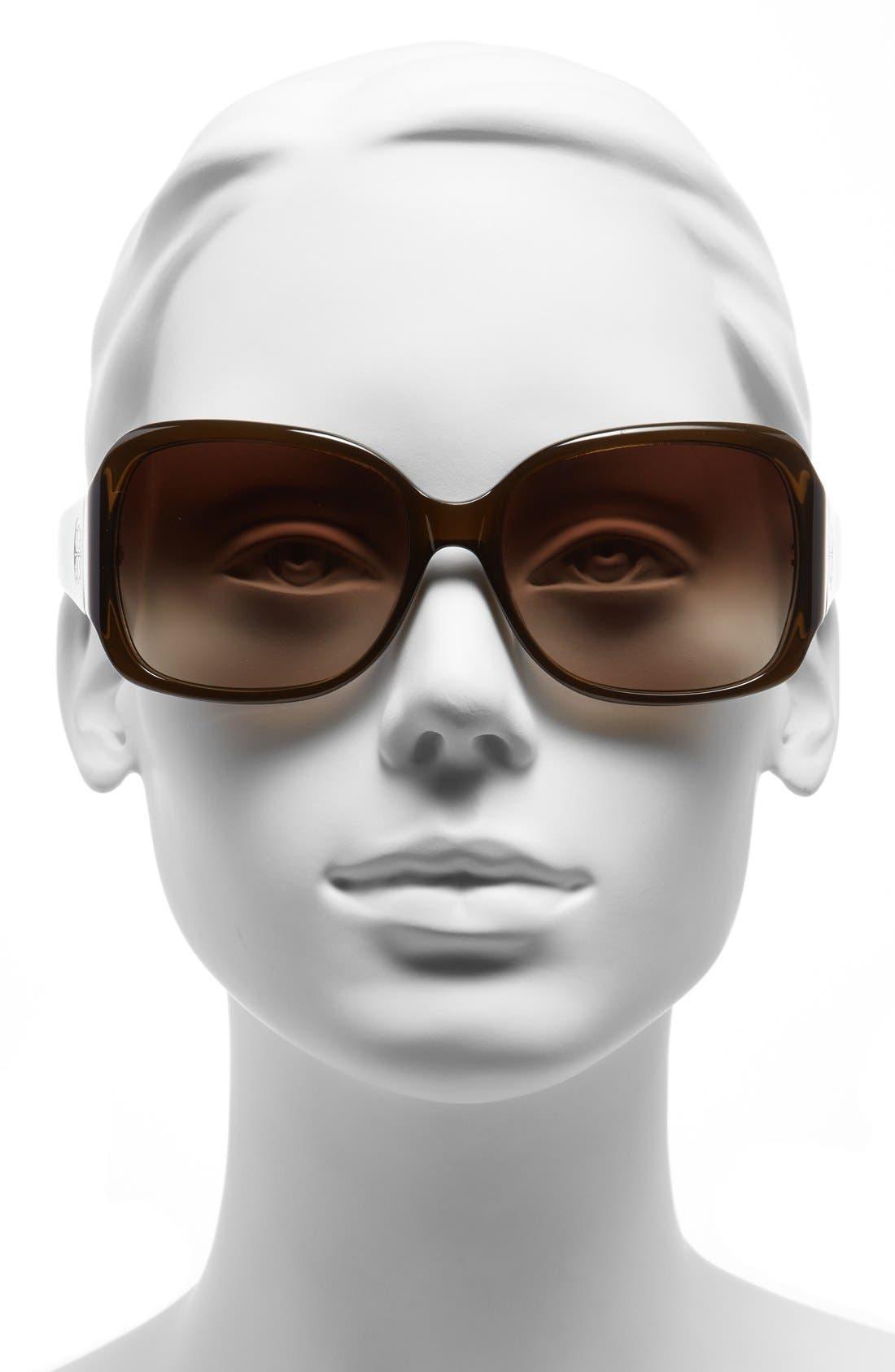 Alternate Image 2  - Tory Burch 58mm Oversized Square Sunglasses