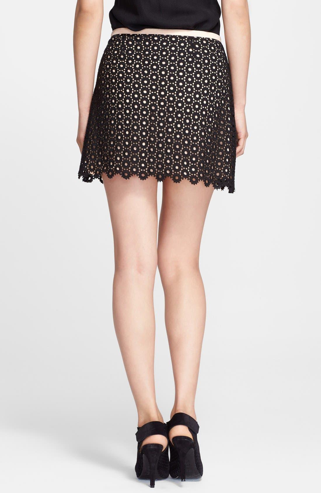 Alternate Image 2  - Mcginn 'Rowan' Cotton Eyelet Skirt