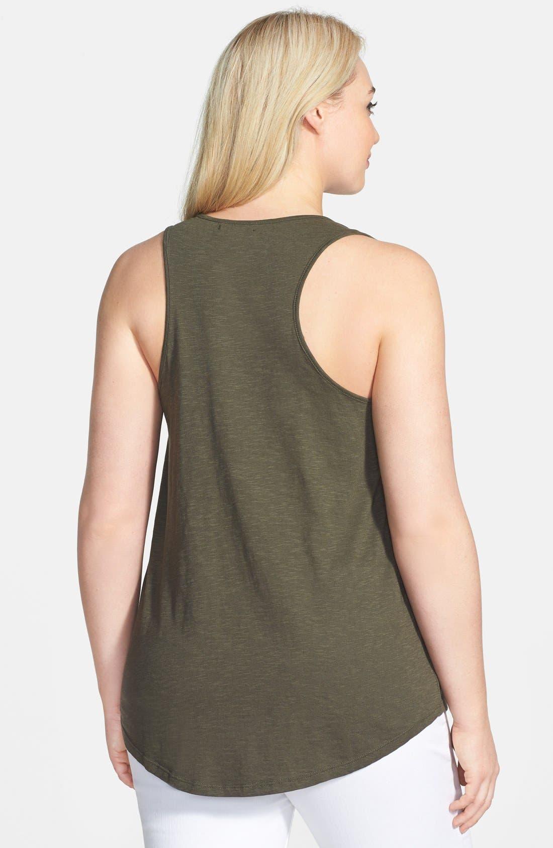 Alternate Image 2  - Halogen® Beaded Knit Tank (Plus Size)