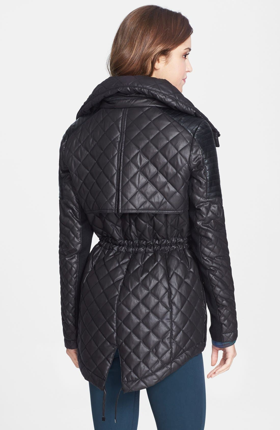 Alternate Image 2  - BCBGeneration Quilted Anorak with Stowaway Hood