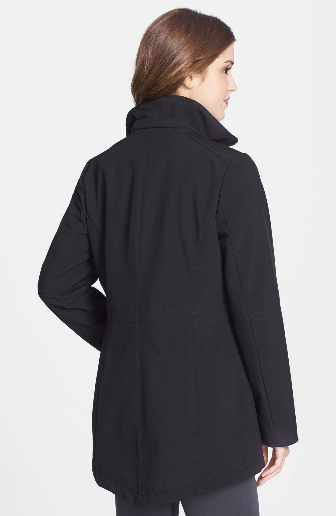 Alternate Image 2  - Via Spiga Soft Shell Anorak with Removable Hood (Online Only)