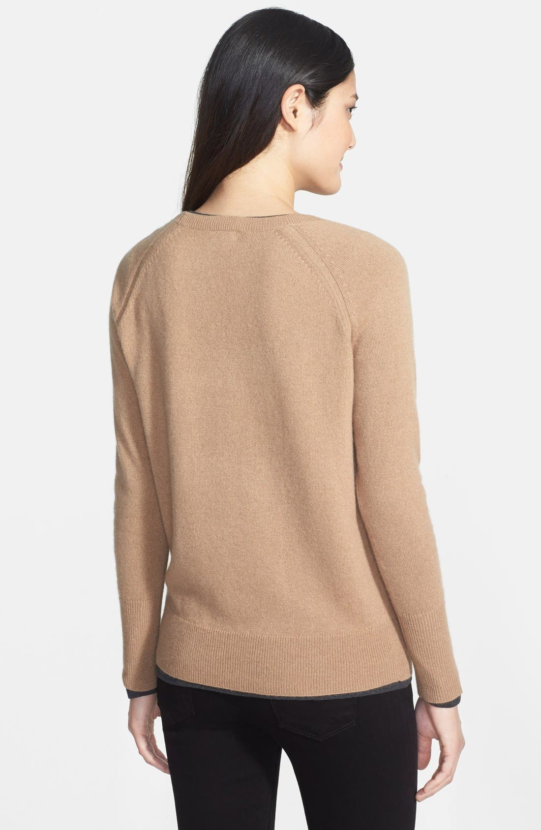 Alternate Image 2  - Halogen® Solid Cashmere Sweater
