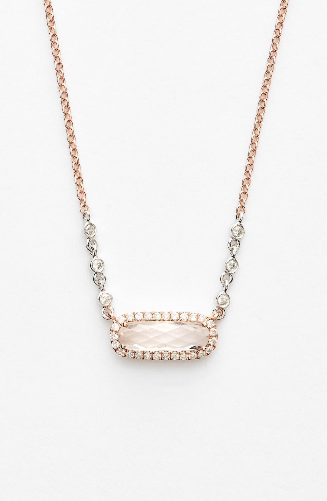 Alternate Image 1 Selected - MeiraT Stone & Diamond Pendant Necklace