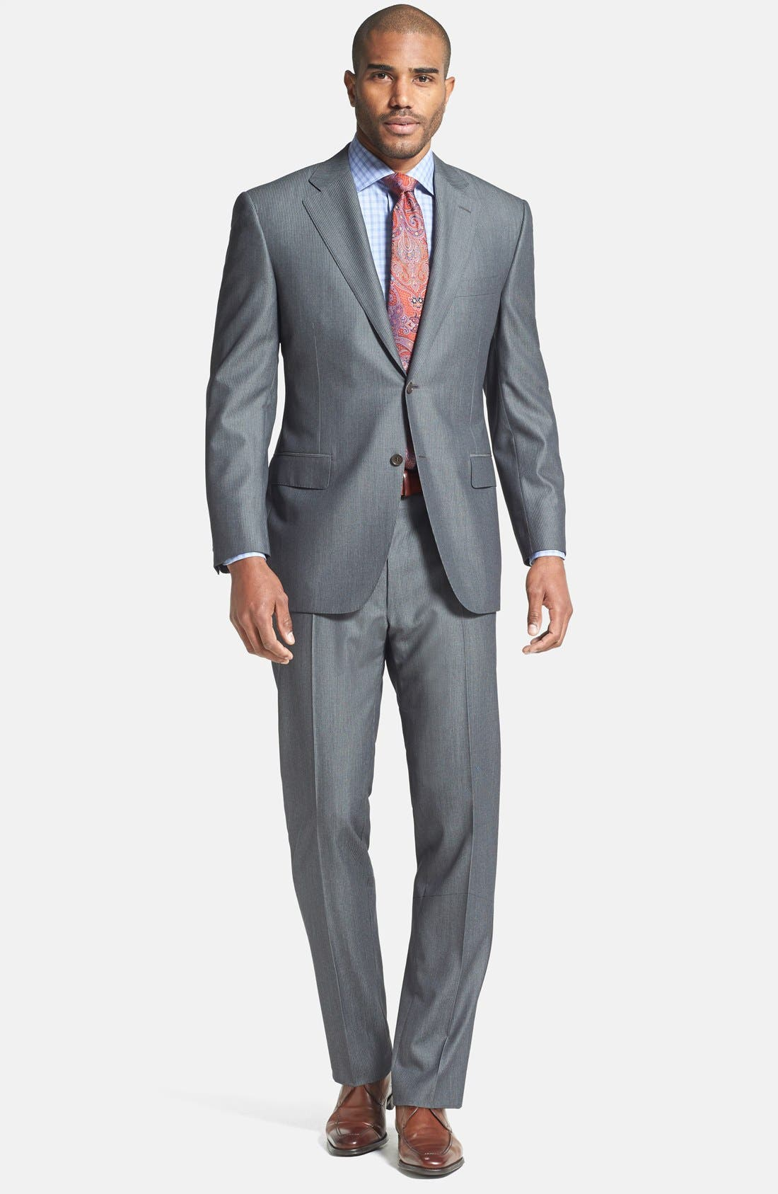 Alternate Image 1 Selected - Canali Classic Fit Herringbone Suit
