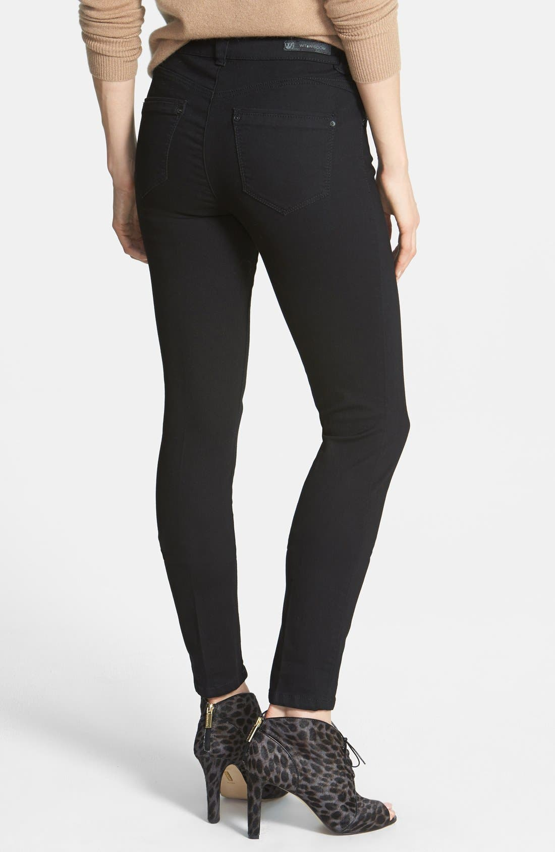 Alternate Image 2  - Wit & Wisdom Lightweight Stretch Skinny Jeans (Black) (Nordstrom Exclusive)