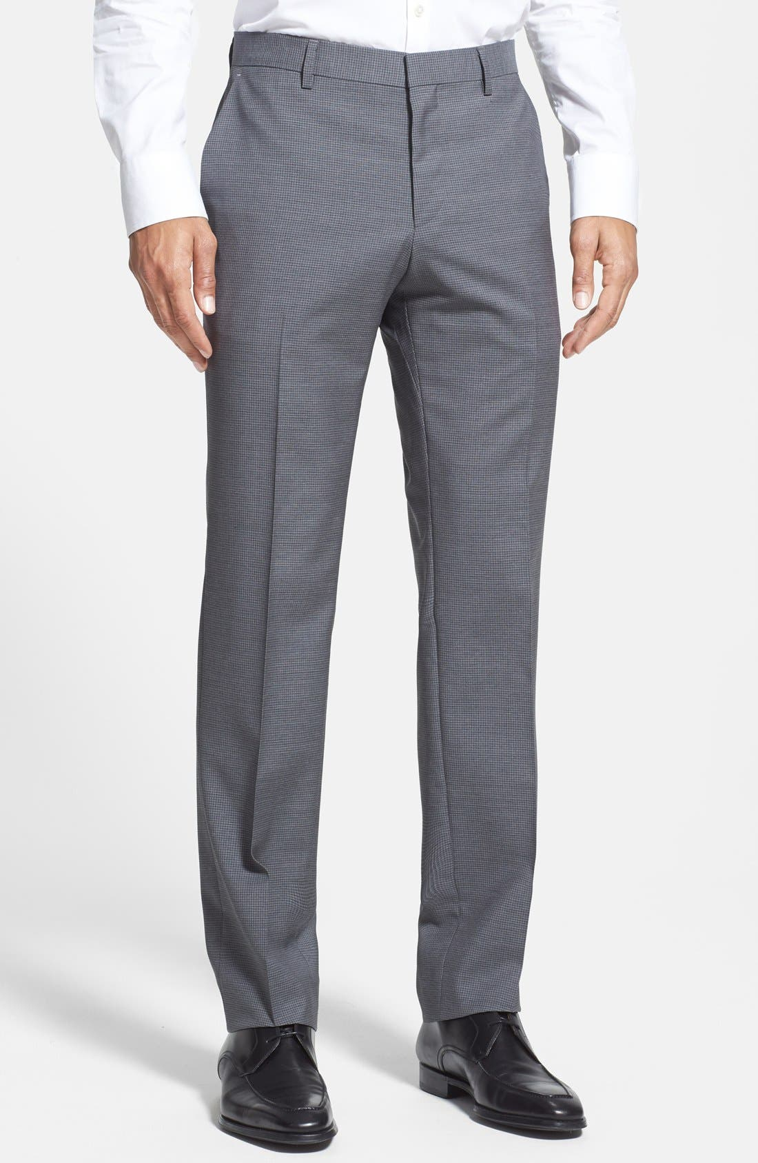 Main Image - BOSS HUGO BOSS 'Genesis' Patterned Flat Front Trousers