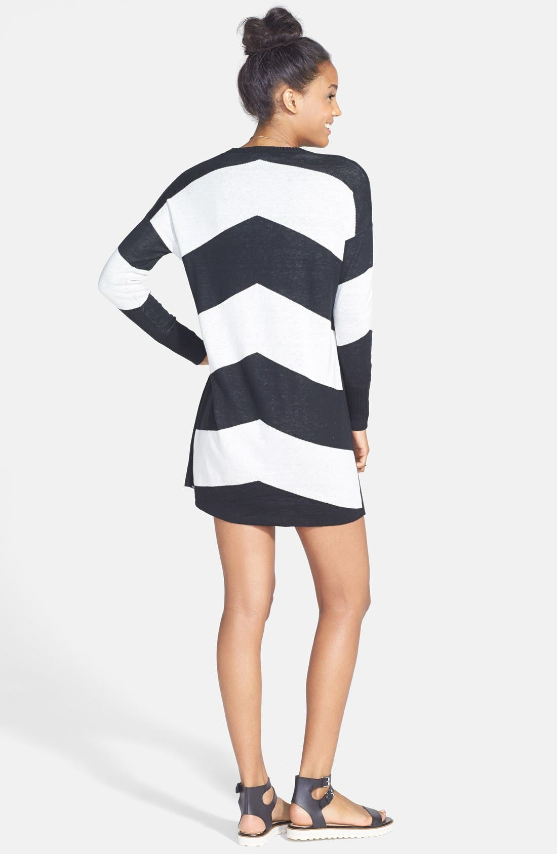 Alternate Image 2  - Volcom 'Twisted' Chevron Sweater Dress