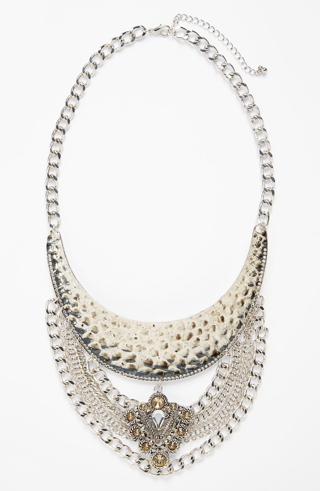 Main Image - Leith Hammered Chain Necklace