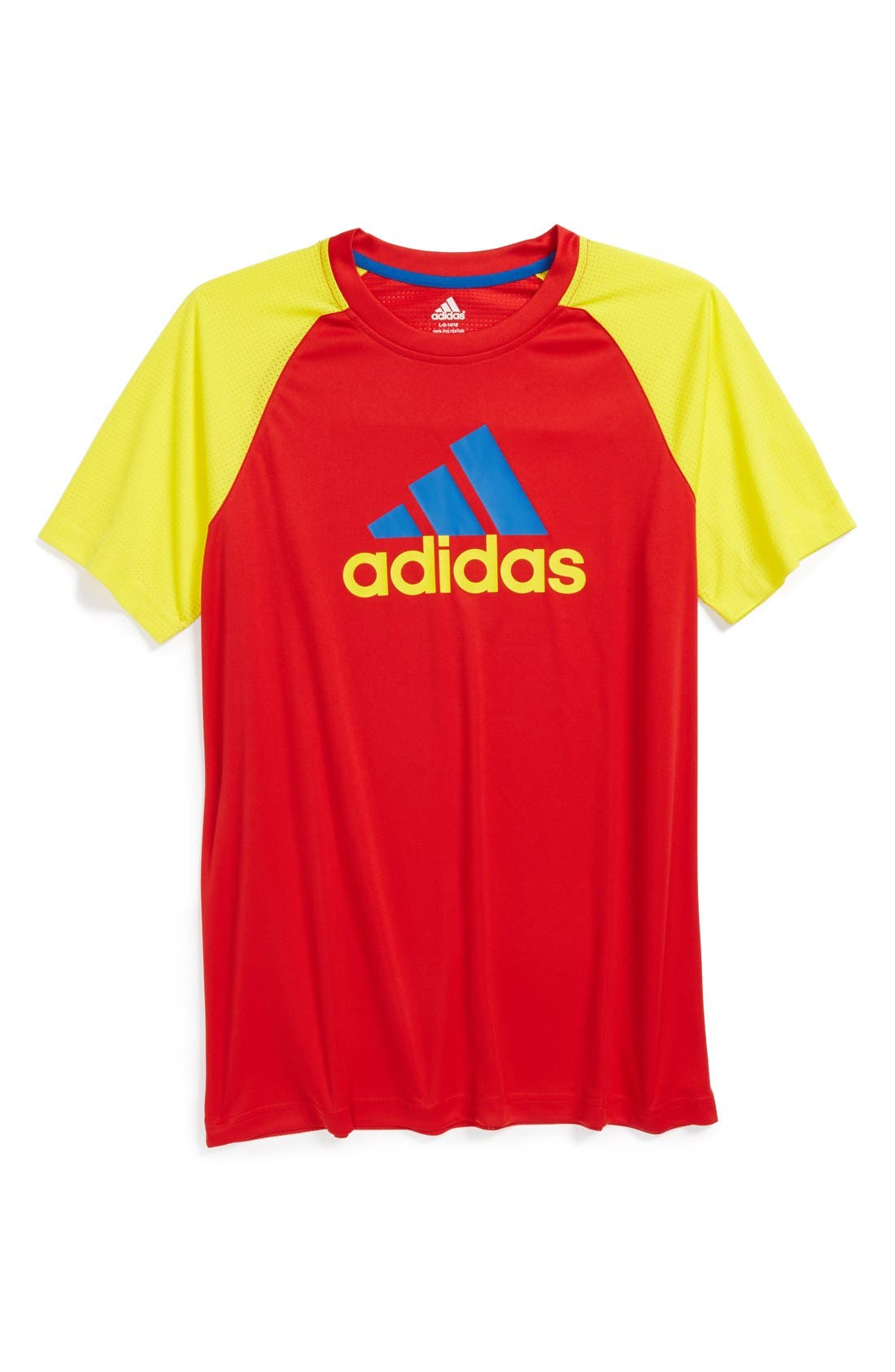Alternate Image 1 Selected - adidas 'Clima Core 2' T-Shirt (Big Boys)
