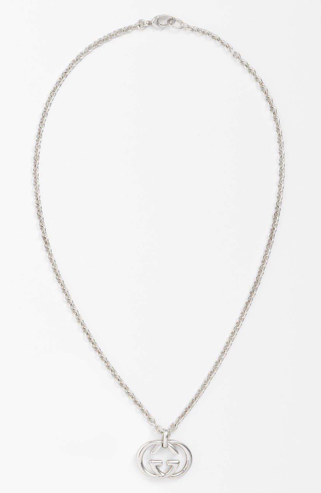 gucci necklace mens. main image - gucci \u0027silver britt\u0027 necklace mens a
