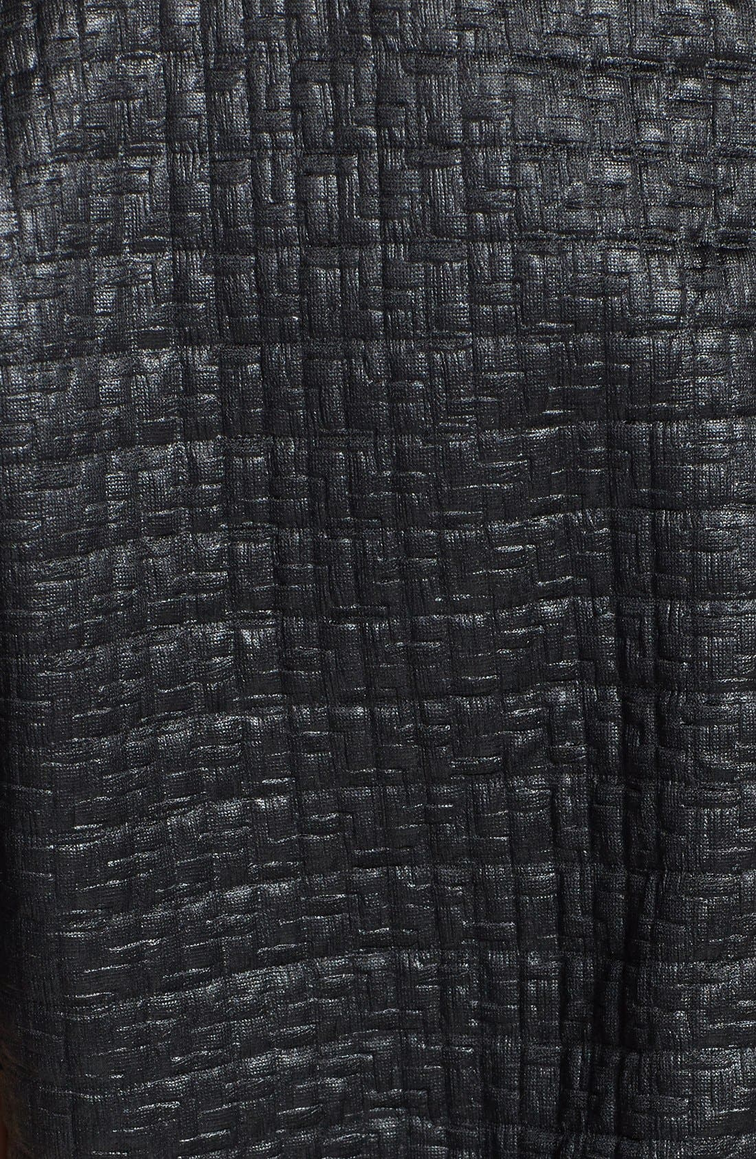 Alternate Image 3  - Leith Coated Textured Crop Sweatshirt