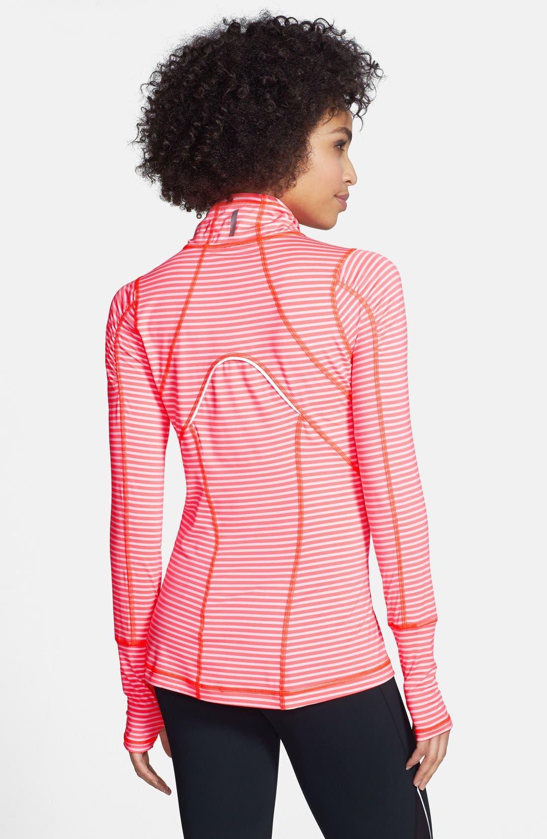 Alternate Image 2  - Zella 'Run' Stripe Half Zip Pullover