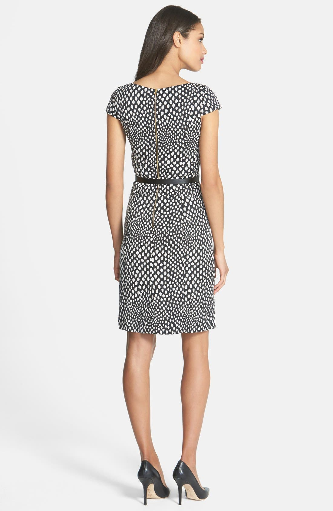 Alternate Image 2  - Tahari Belted Print Sheath Dress (Petite)