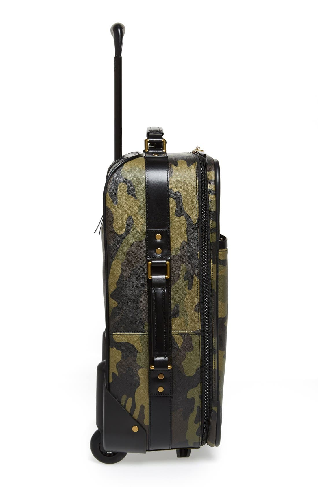 'Jet Set - Camo' Rolling Carry-On,                             Alternate thumbnail 3, color,                             Camo