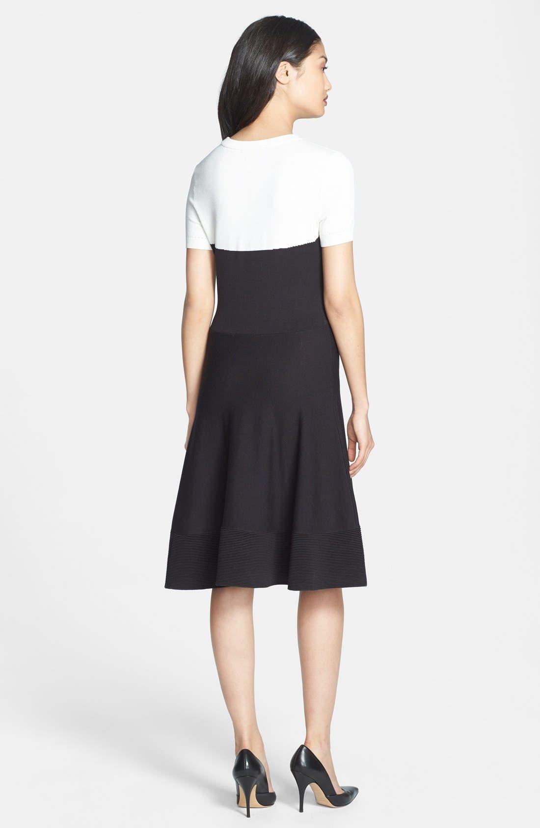 Alternate Image 2  - kate spade new york colorblock sweater dress