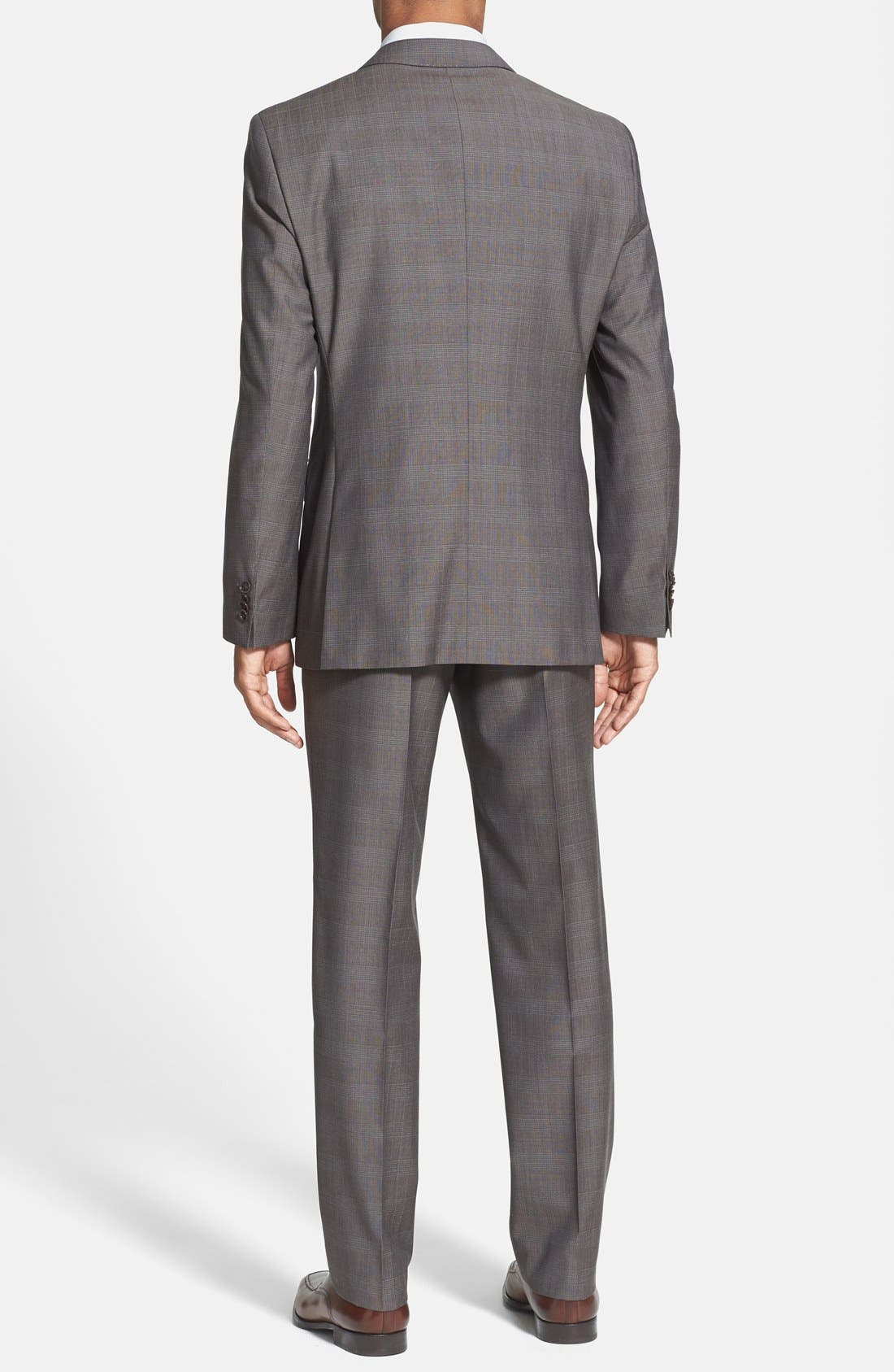 Alternate Image 2  - BOSS HUGO BOSS 'James/Sharp' Trim Fit Plaid Suit (Online Only)