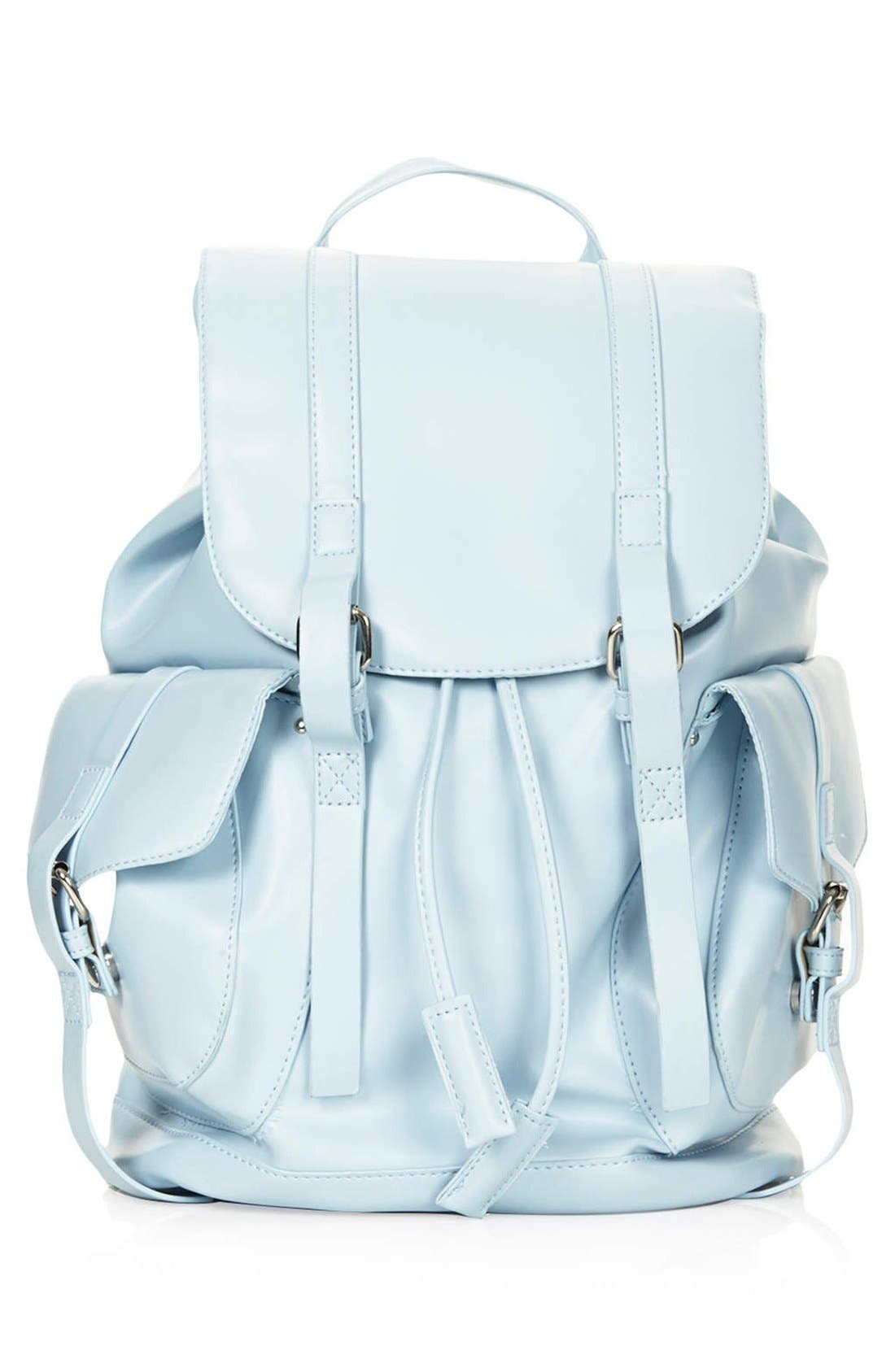 Main Image - Topshop Faux Leather Backpack