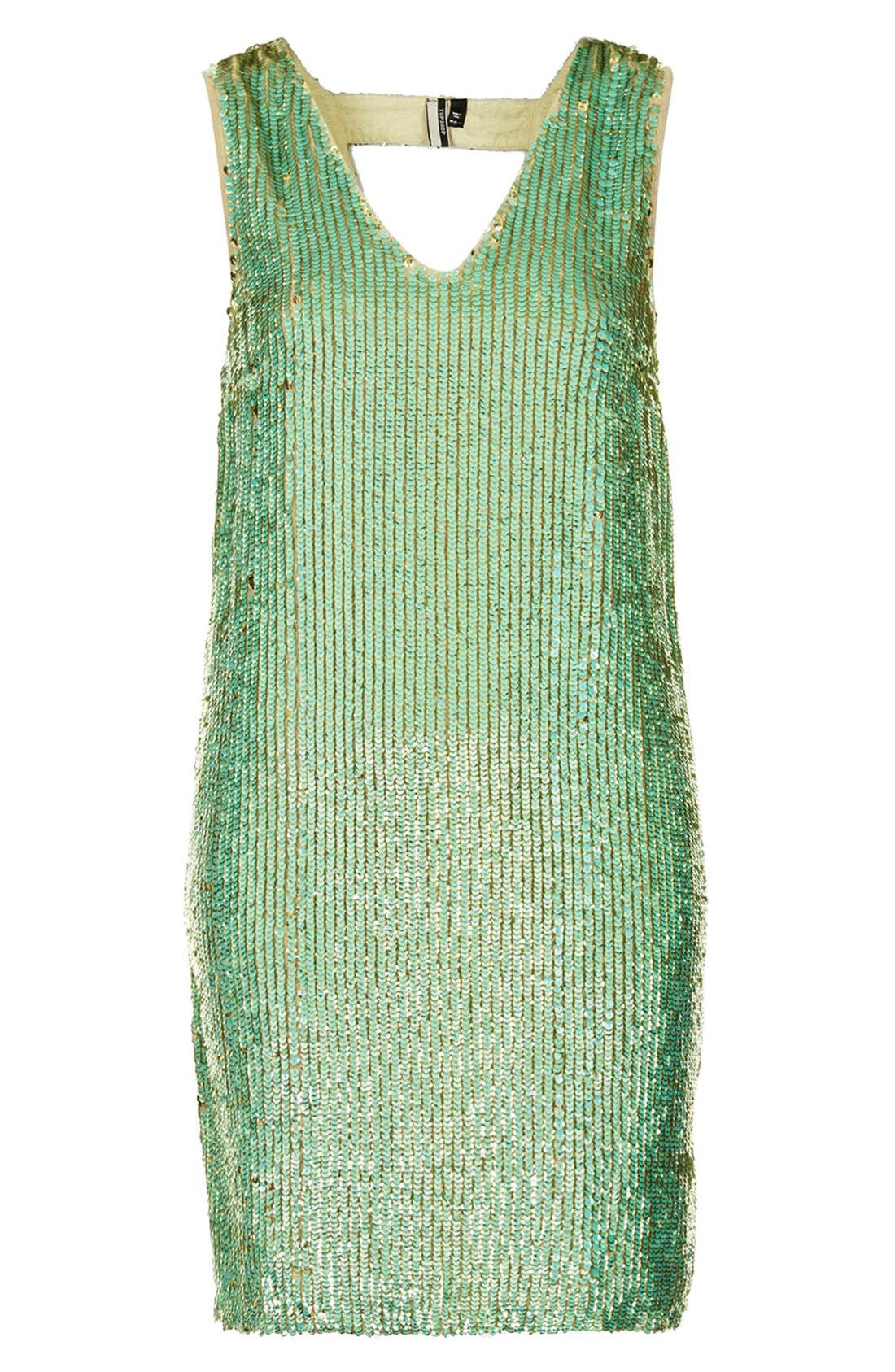 Alternate Image 3  - Topshop Sequin Shift Dress