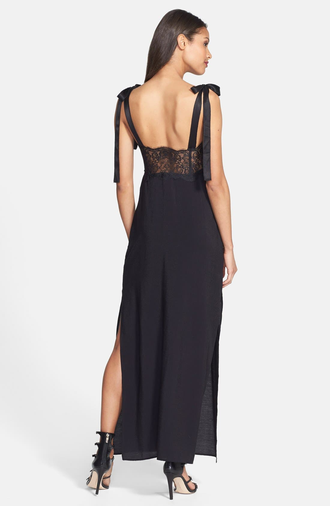 Alternate Image 2  - For Love & Lemons 'Sweet Tea' Lace Trim Crepe Maxi Dress