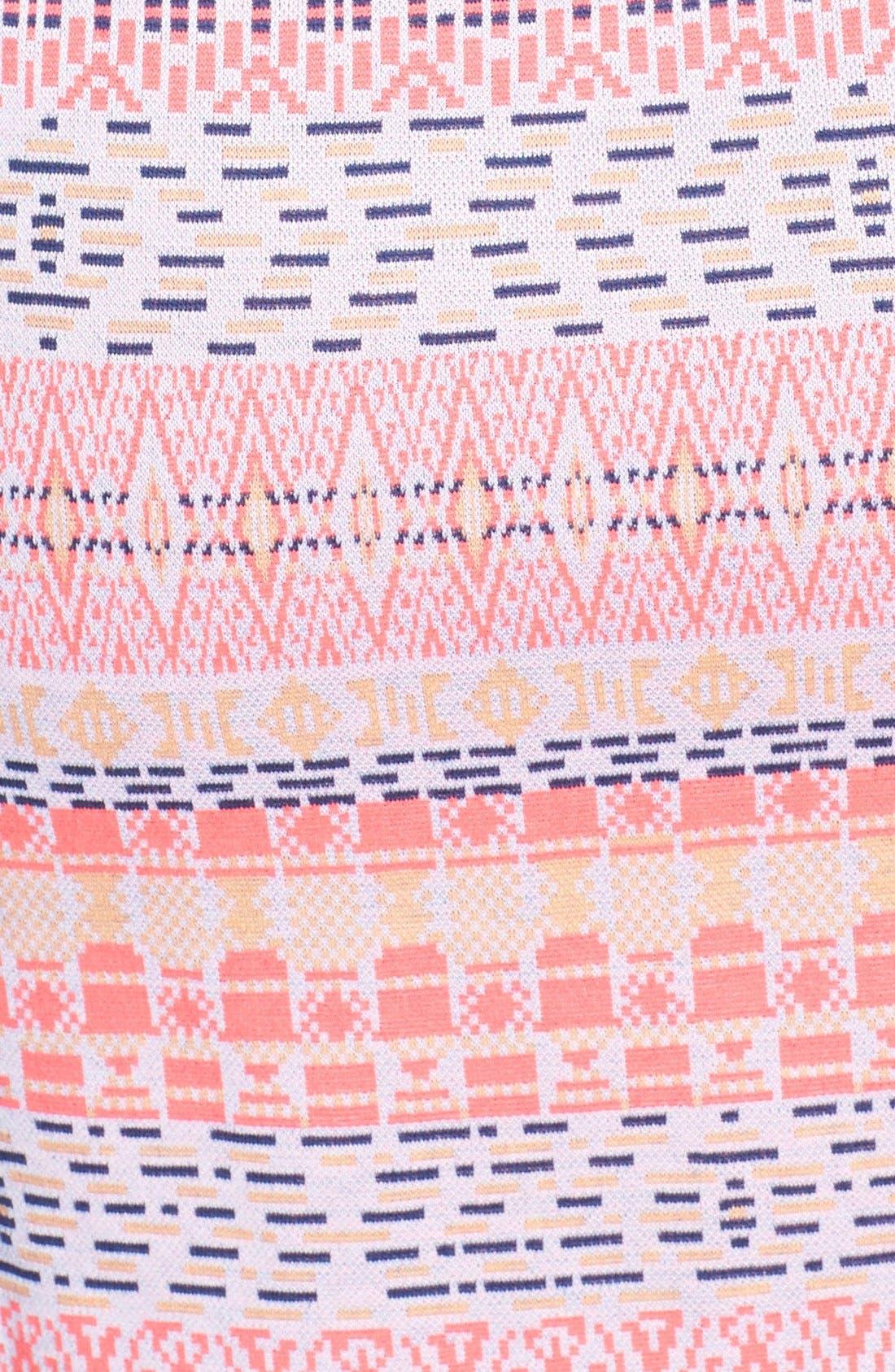 Alternate Image 3  - Ella Moss 'Paz' Print Front Zip Sheath Dress