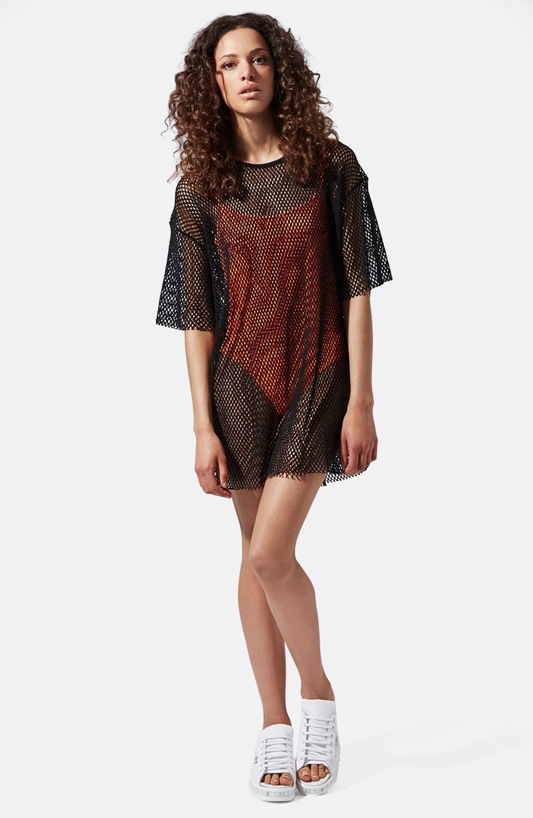 Alternate Image 1 Selected - Ashish x Topshop Oversize Mesh Tee