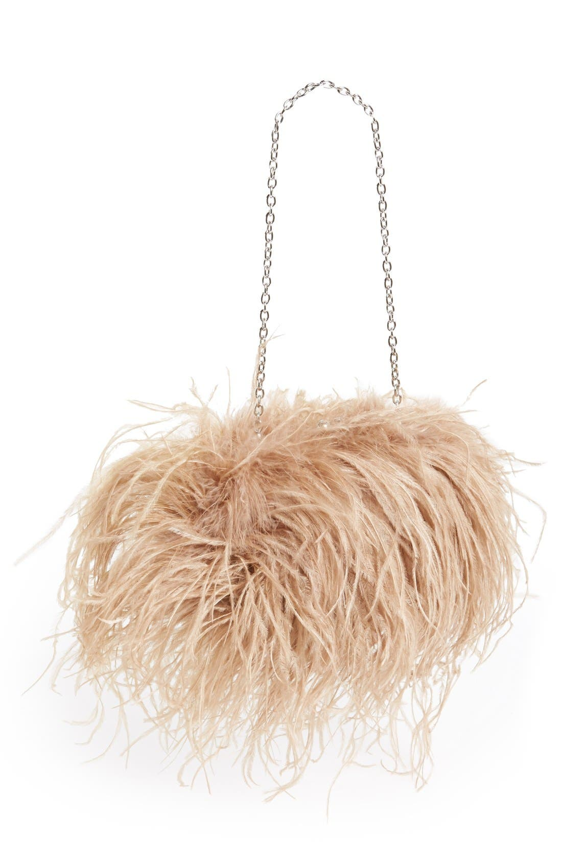 Alternate Image 1 Selected - Sondra Roberts Feather Clutch