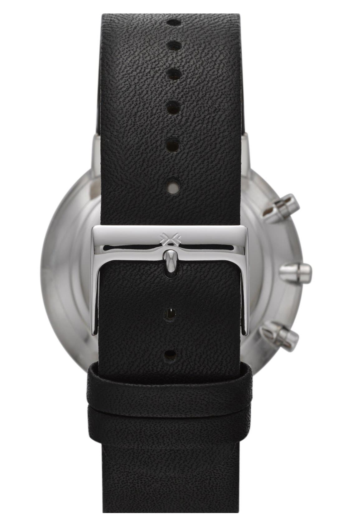 Alternate Image 2  - Skagen Chronograph Leather Strap Watch, 40mm