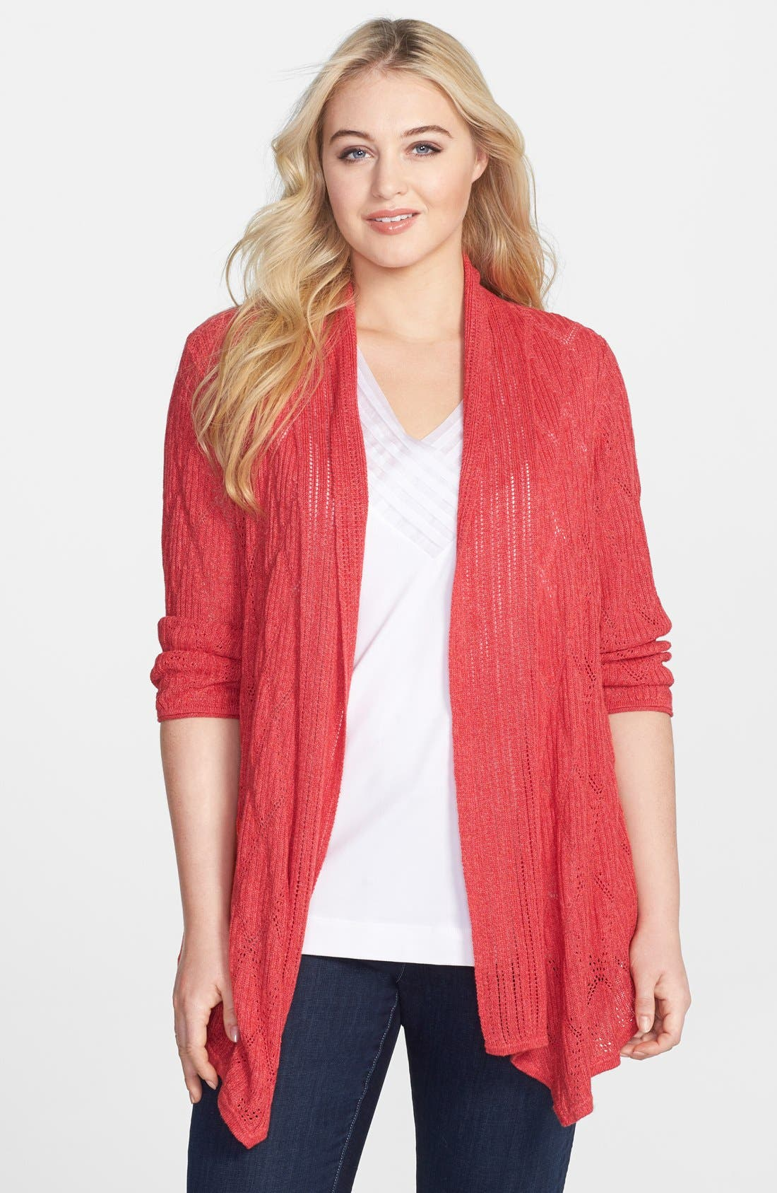 Alternate Image 1 Selected - NIC+ZOE 'Cascading Diamonds' Cardigan (Plus Size)