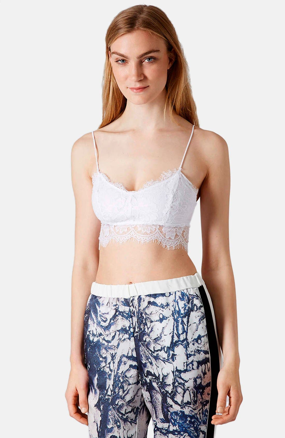 Alternate Image 1 Selected - Topshop Lace Mesh Bralette