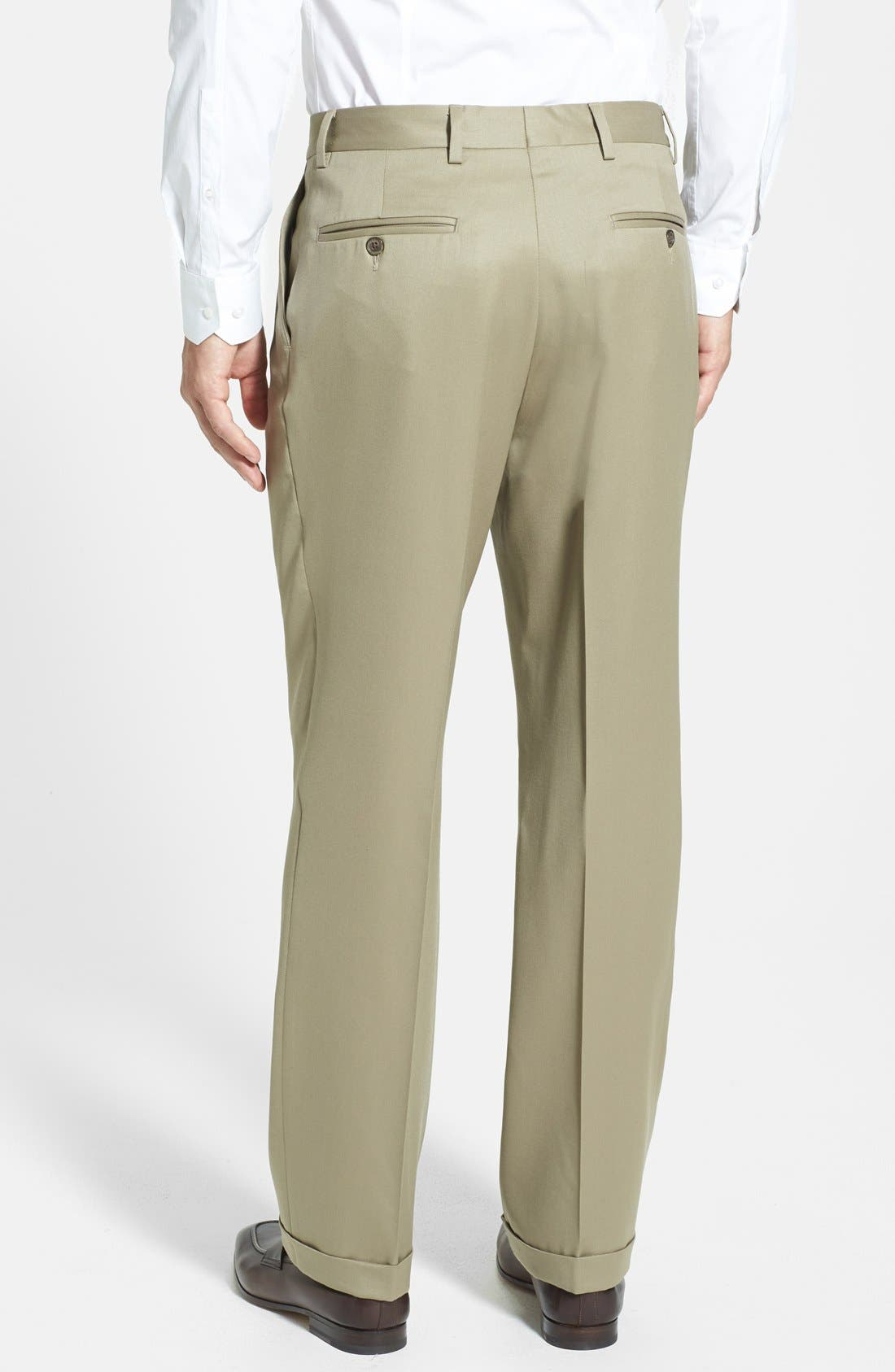 Alternate Image 3  - Berle Pleated Wool Gabardine Trousers