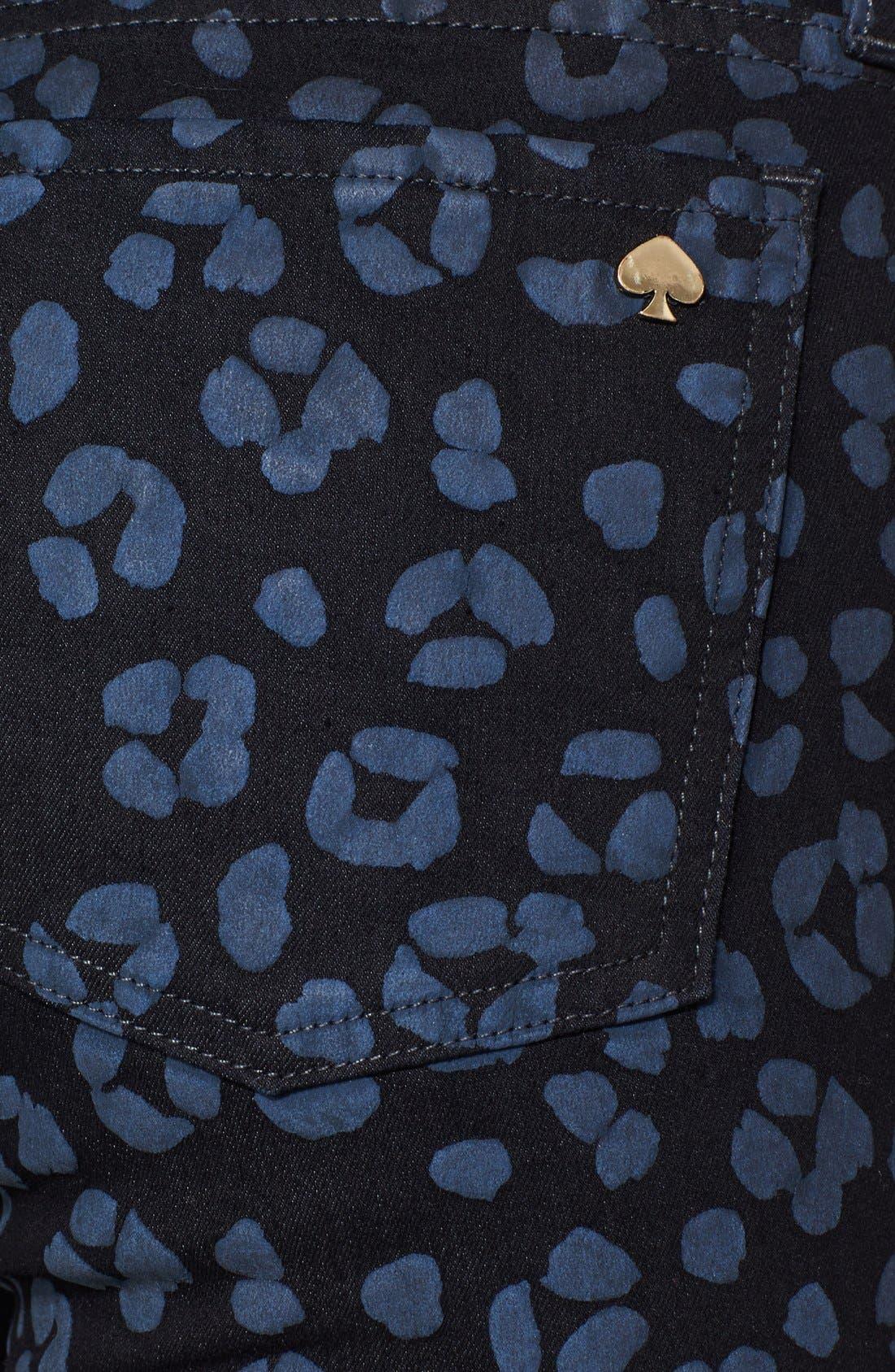 Alternate Image 3  - kate spade new york 'broome street' cheetah print jeans (black)
